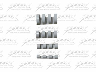 ANILLADO PLAST APRI P/A 24 A4 BCO X 25