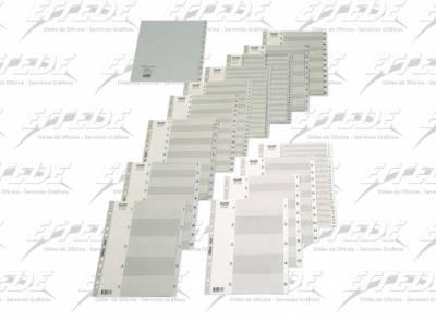INDICE PLAST BANTEX A4 (1-10) GRIS